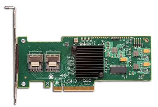 LSI MegaRAID SAS 9240-8i PCI-Express 2.0 6Gbps LP RAID Controller Card (RAID 0,1,10,5,50 and JBOD)