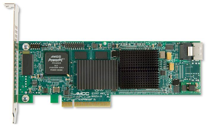 3Ware 9690SA-4I PCI-Express 3Gbps LP RAID Controller Card