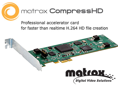 Matrox CompressHD card