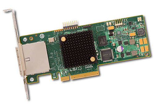 LSI SAS 9205-8e 2x 6Gbps external connetor, PCI-E Host Bus Adapter