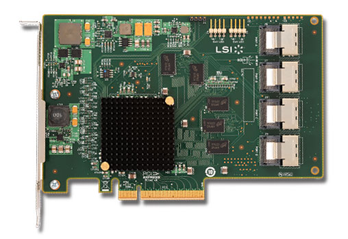 LSI SAS 9201-16i 4x 6Gbps internal connetor, PCI-E Host Bus Adapter