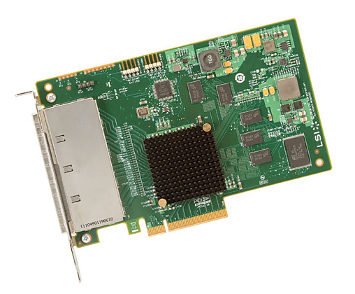LSI SAS 9201-16e 4x 6Gbps external connetor, PCI-E Host Bus Adapter