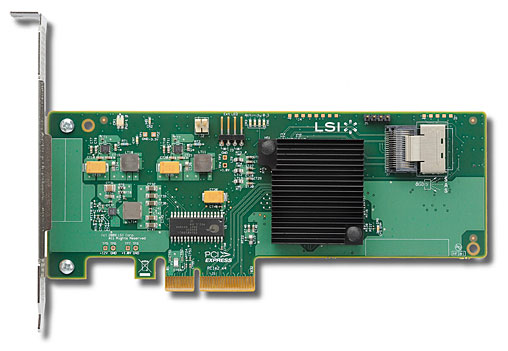 LSI SAS 9211-4i 1x 6Gbps internal connetor, PCI-E Host Bus Adapter