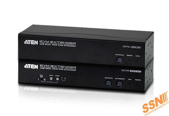 Aten CE775 USB Dual View KVM Extender with Deskew