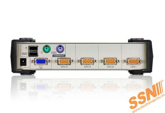 Aten CS84U 4-Port PS/2-USB KVM Switch 1 Console(PS/2 & USB)
