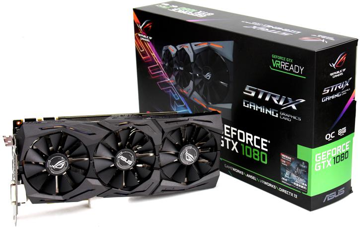 VGA ASUS ROG Strix GeForce® GTX 1080 A8G