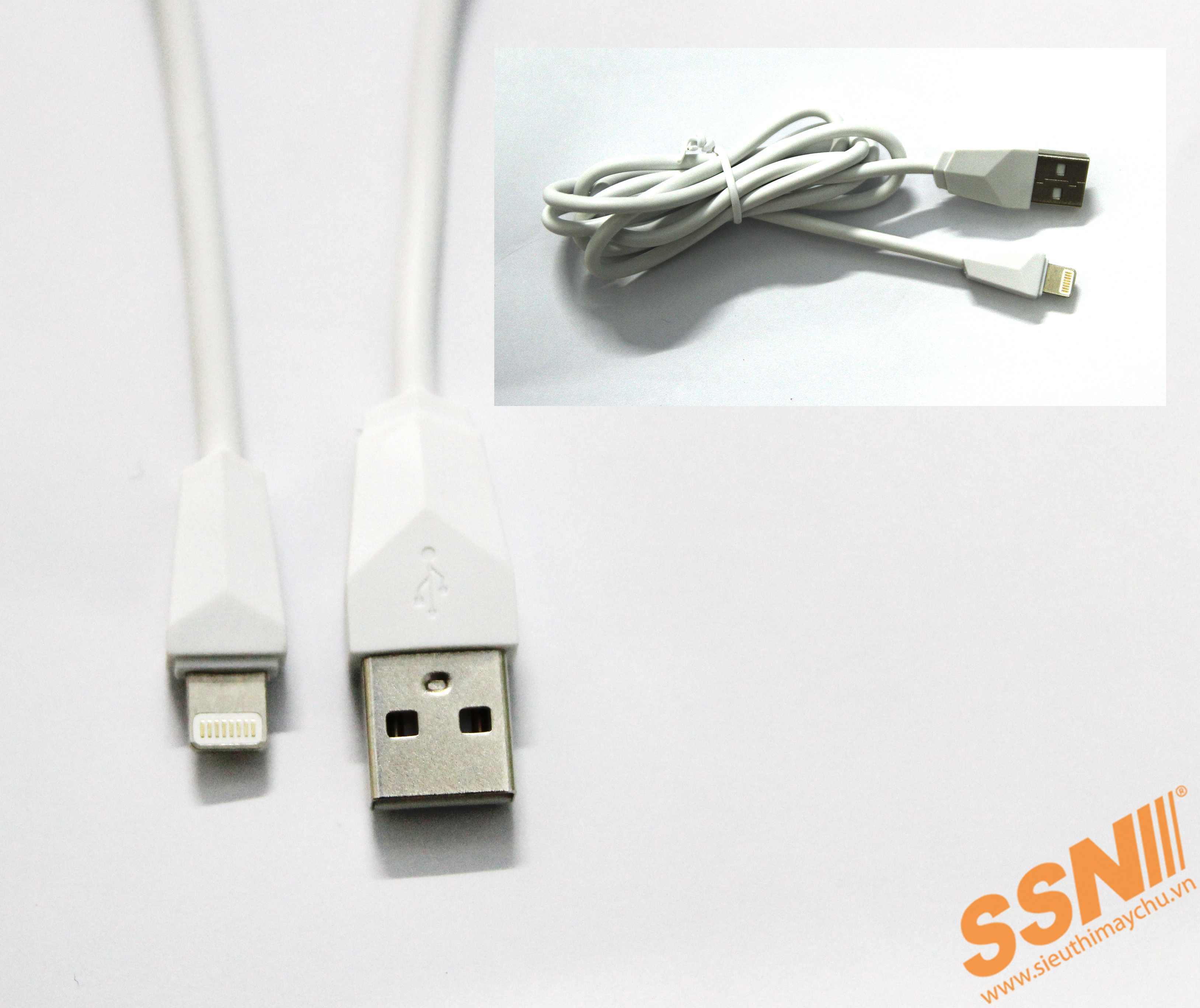 CÁP SẠC USB-LIGHTNING ( Trắng )