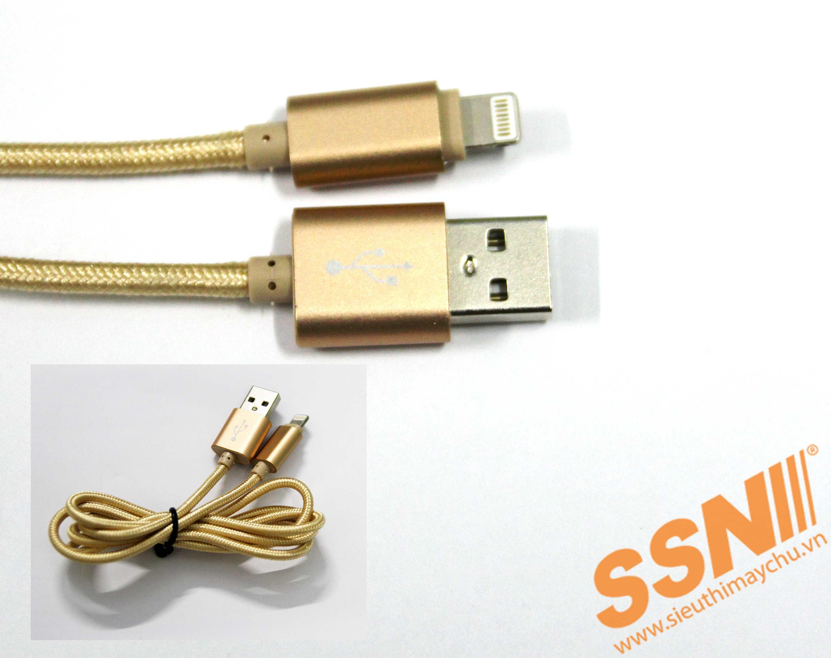 CÁP SẠC USB-LIGHTNING-VÀNG