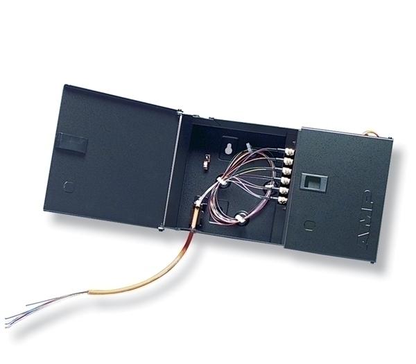 84751-1 Fiber Optic Wall Mount Box,Unload -       1-5502776-1 Adapter,SC-SC,Dpx,SM,Blue
