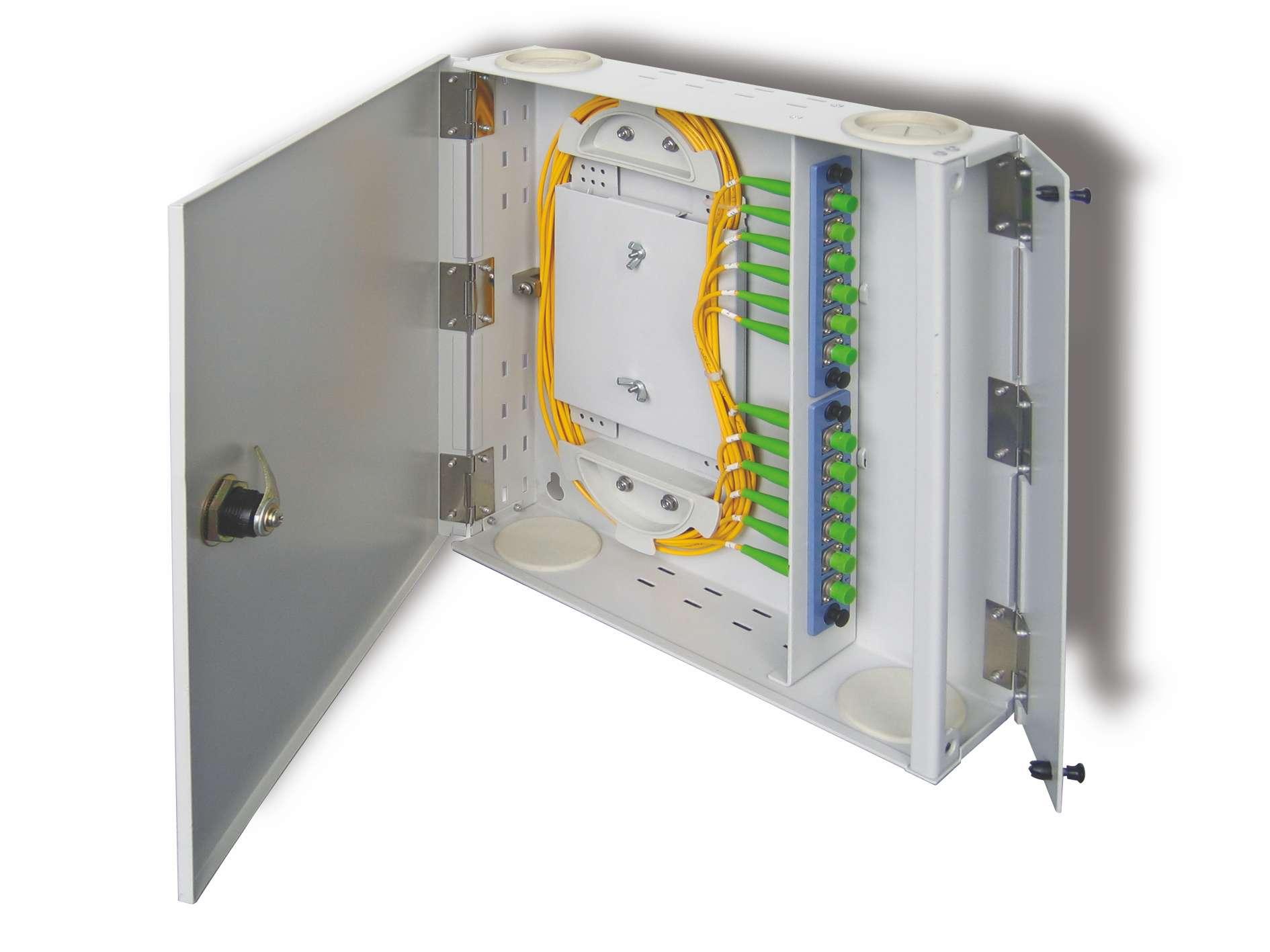 ODF 12 port Fiber optic enclosure, wallmount