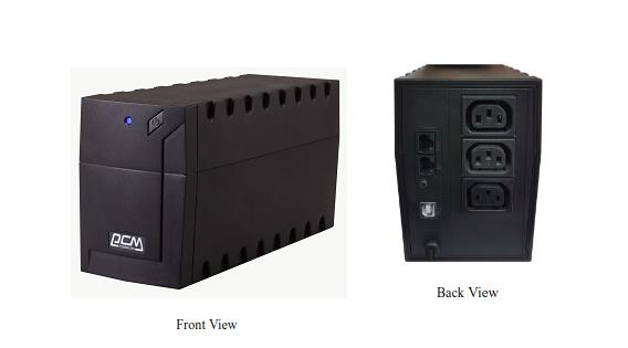 Bộ Lưu Điện Powercom 800VA Line Interactive RPT-800AP