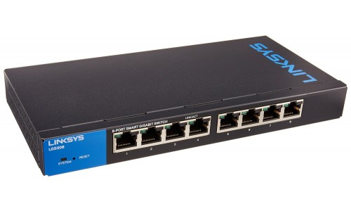 8-Port Business Smart Gigabit PoE+ Switch LINKSYS LGS308P