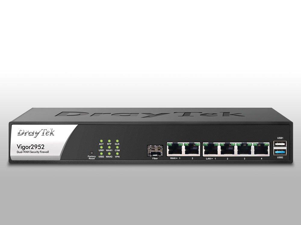Thiết Bị Mạng Cân Bằng Tải Wifi DrayTek Vigor2952 Dual-WAN Router Firewall & Load Balancer