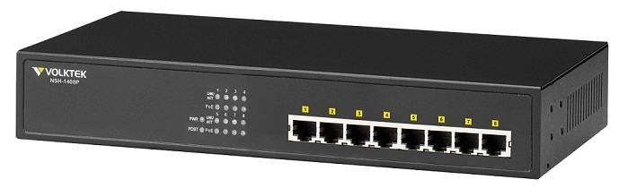 Switch VOLKTEK 8 port PoE Switch NSH-1408P