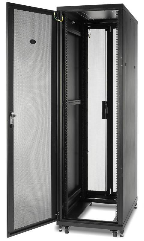 NetShelter SV 42U 600mm Wide x 1060mm Deep Enclosure with Sides, Black, Single Rack Unassembled