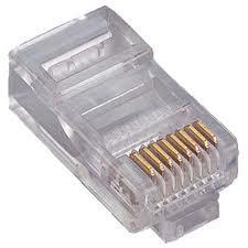 1501-88027 Modular plug đầu RJ45 CAT.6, 3 prongs contact, 50u\