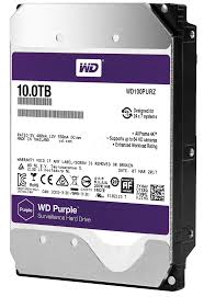 10TB WD Purple Surveillance Hard Disk Drive - 5400 RPM Class SATA 6 Gb/s 256MB Cache 3.5