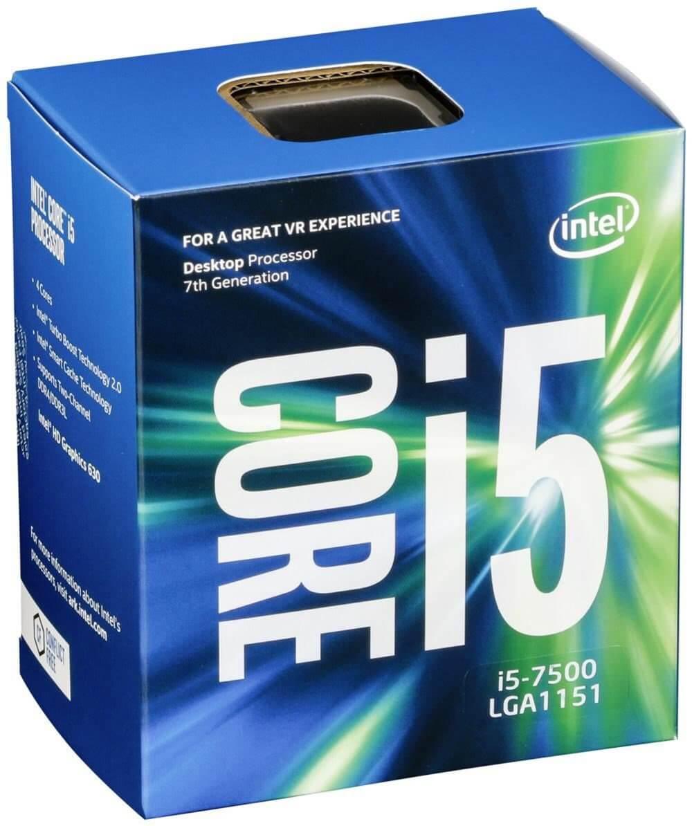 CPU Intel Core i5-7500 3.4 GHz / 6MB / HD 600 Series Graphics / Socket 1151 (Kabylake)