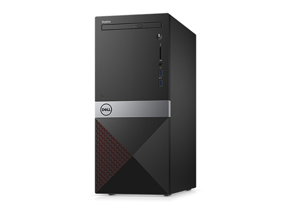 Máy tính để bàn Dell Vostro 3670  Intel Core i3-8100 (3.60 GHz,6 MB)/ 4GB RAM/ 1TB HDD/ DVDRW/ WL+BT Card/ Mouse/ Keyboard/ Ubuntu/ 1Yr