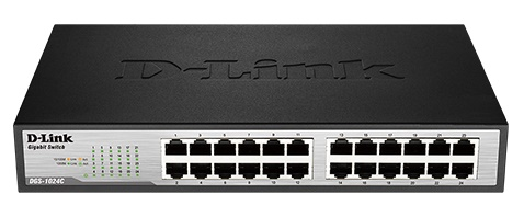 Thiết Bị Mạng Switch D-Link 24 Ports 10/100/1000 Mbps Unmanaged DGS-1024C