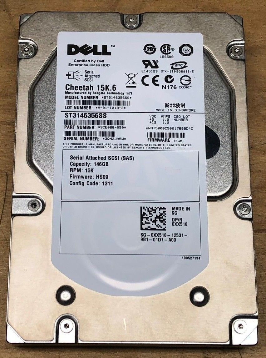 HDD SAS Dell 146GB 15K 3.5INCH 9CE066-050