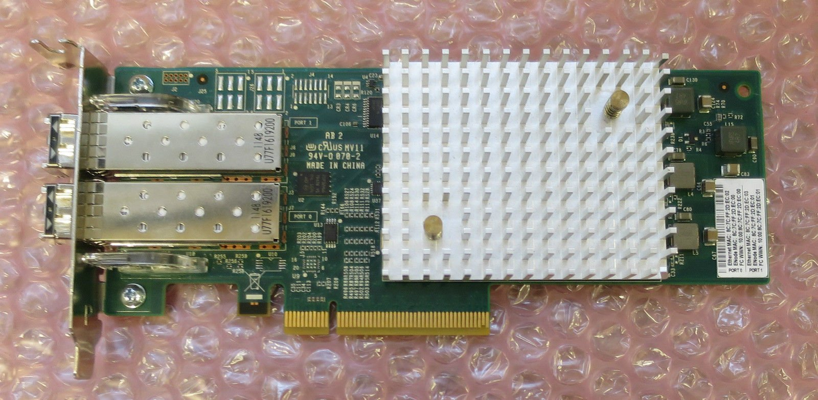 Brocade 18602 Dual Port 16gbps Host Bus SFP HBA Pci-e 1860 80-1006035-02 16gb