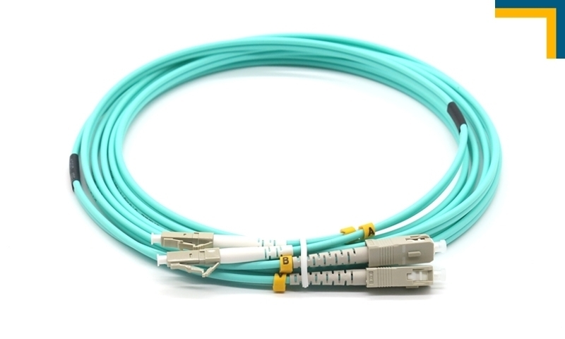 Dây  nhảy quang OM3 LC LC Multi mode 10G Duplex 10m (DYS FIBER OPTIC)