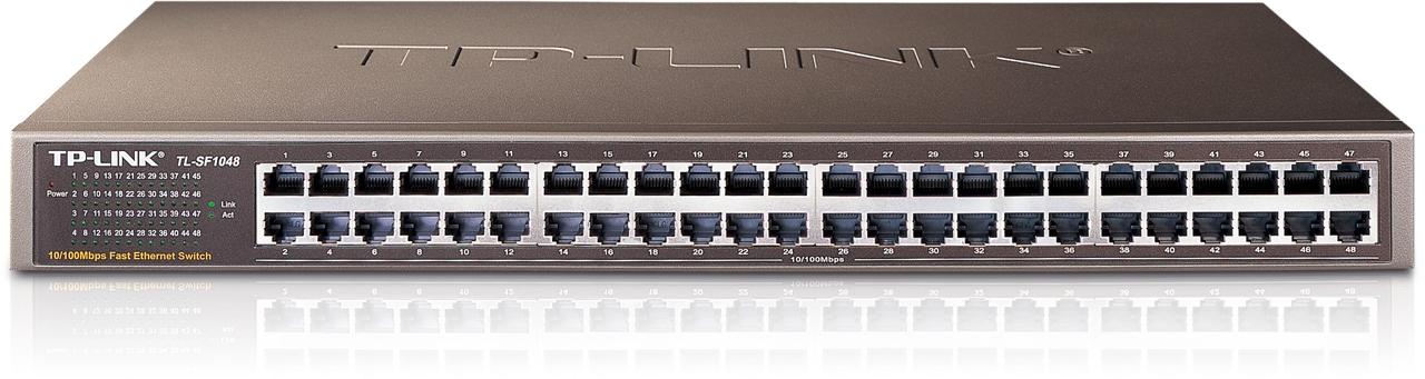 Switch Chia Tín Hiệu 48 cổng có giá treo 10/100Mbps TL-SF1048
