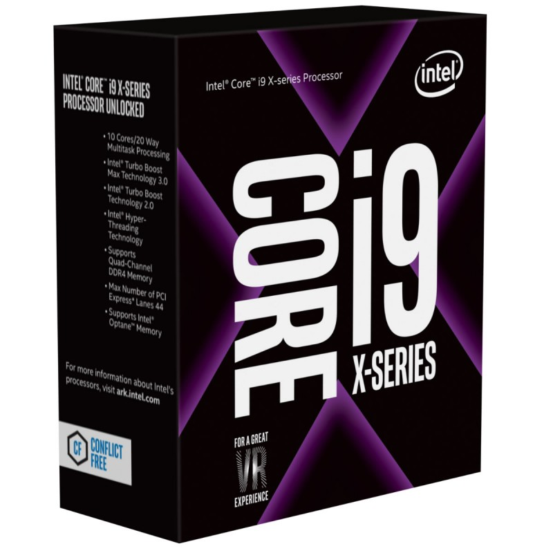 CPU Intel Core i9 7940X 3.1Ghz Turbo 4.3 Up to 4.4Ghz / 19.25MB / 14 Cores, 28 Threads / Socket 2066