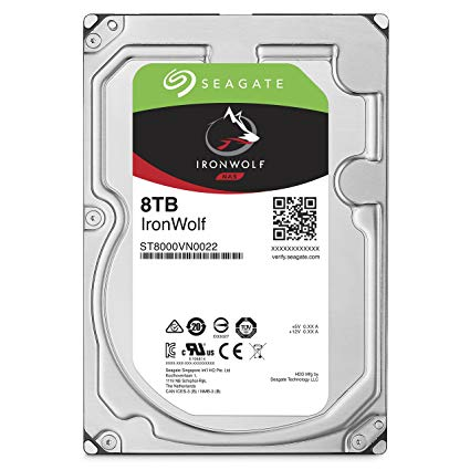 8TB Seagate IronWolf NAS 6Gb/s NCQ 256MB Cache 3.5-Inch Internal Hard Drive