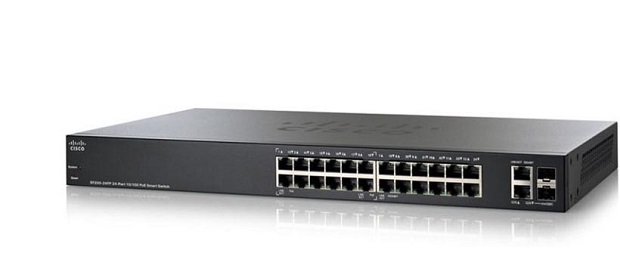 Cisco SF250-24P 24-Port 10/100 PoE Smart Switch