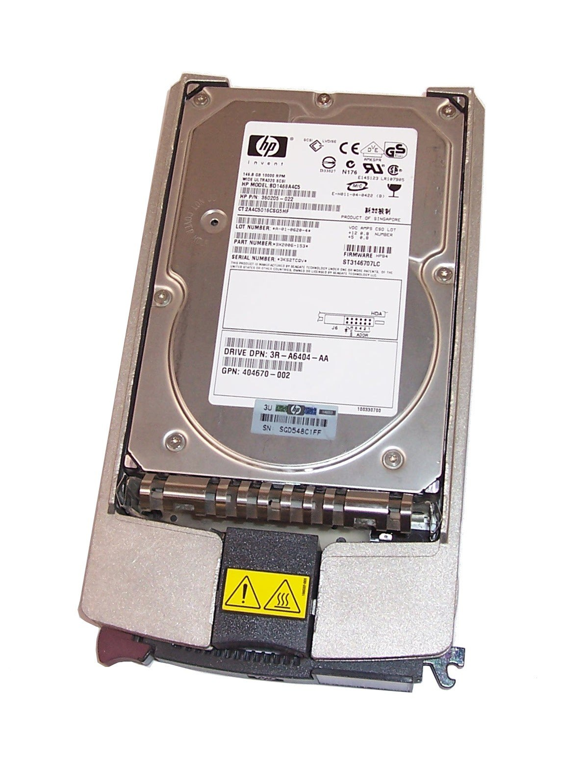 HP-Compaq 146 GB 10K RPM 3.5in