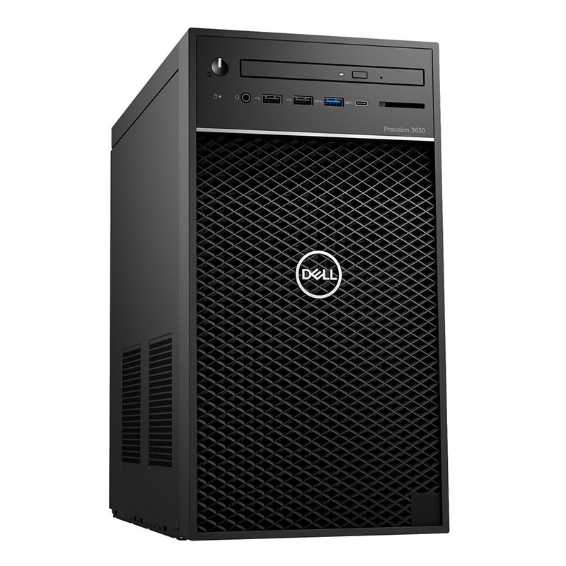 Máy Bộ WorkStation Dell Precision 3630 Mini Tower (42PT3630D05) Xeon E-2124G/ 2x8GB/ 1TB/ NVIDIA Quadro P620 2GB/ 3Yrs Warranty