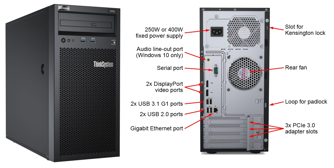 ThinkSystem ST50 ATX-250W Chassis Base