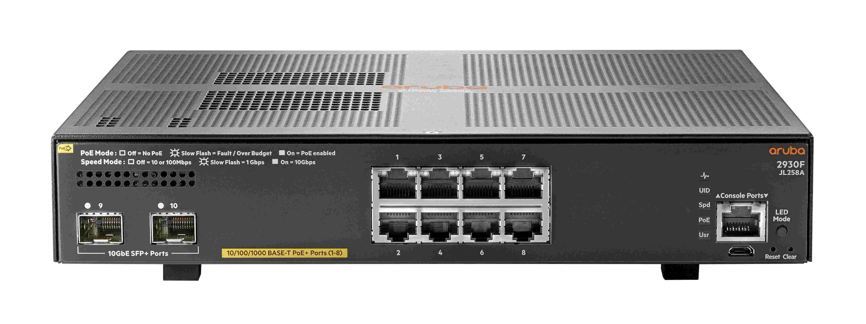 Aruba 2930F 8G PoE+ 2SFP+ Switch (JL258A)