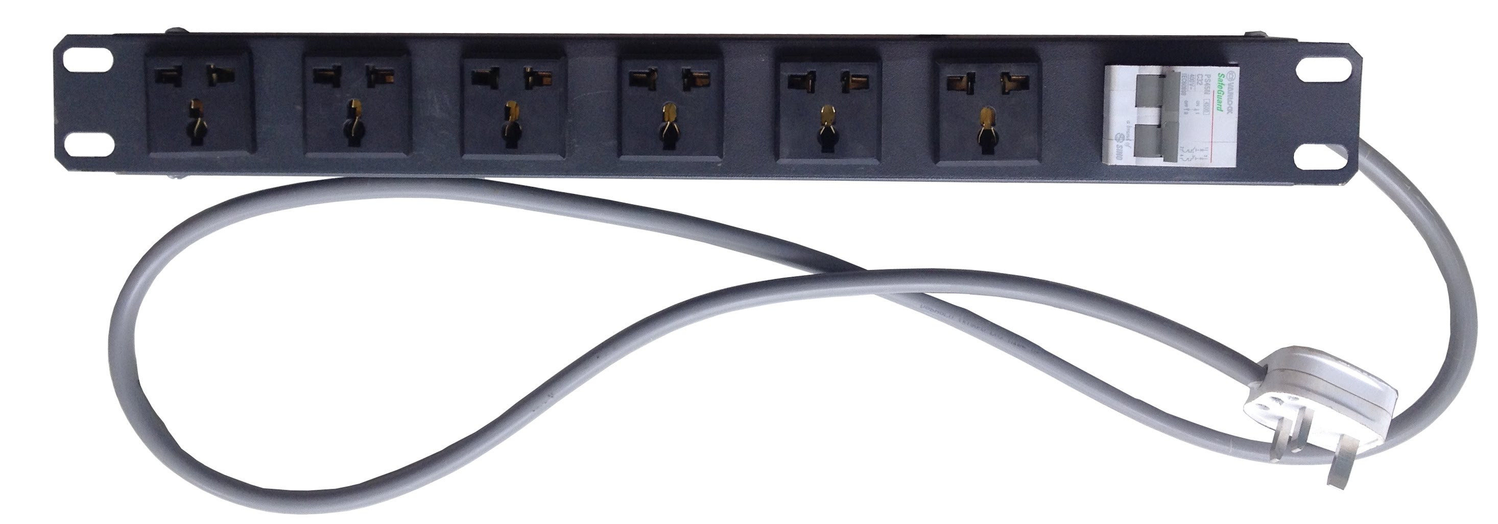 Thanh phân phối nguồn điện, 6 ổ cắm Universal, 16A, 250V