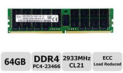 64GB PC4-23466 ECC 2933 MHz LRDIMMs