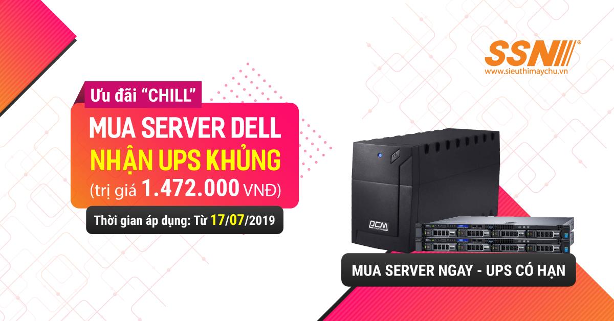 Mua Server DELL R230 có ngay UPS Powercom 800AP