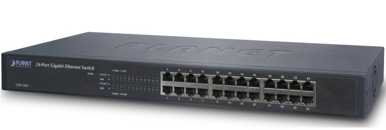 24-Port 10/100/1000Mbps Switch PLANET GSW-2401