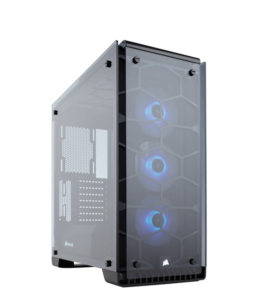 CASE (Mid-Tower) Corsair 570X RGB Crystal Series Tempered Glass
