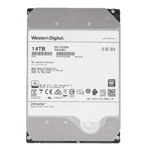 Ổ cứng ENTERPRISE WD ULTRASTAR DC HC530 14TB 3.5, 512MB Cache, 7200RPM, SATA