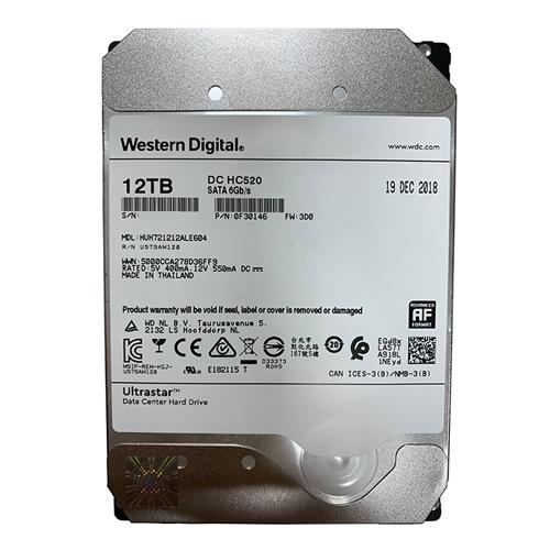 Ổ cứng ENTERPRISE WD ULTRASTAR DC HC520 12TB 3.5, 256MB Cache, 7200RPM, SATA