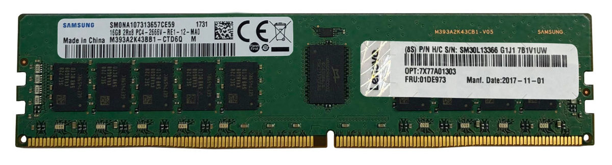 Bộ Nhớ RAM DDR4 ThinkSystem 8GB TruDDR4 2933MHz (1Rx8 1.2V) RDIMM