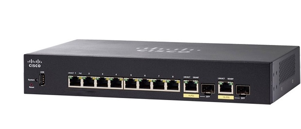 10-Port Gigabit PoE Managed Switch CISCO SG350-10MP-K9