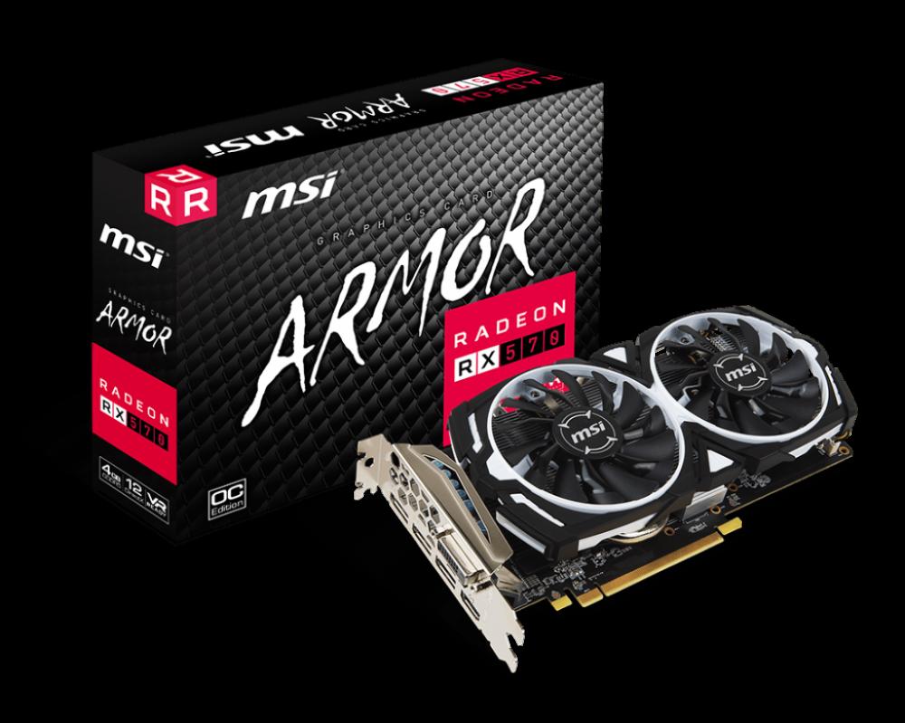 CARD VGA MSI RX570 ARMOR 8G OC
