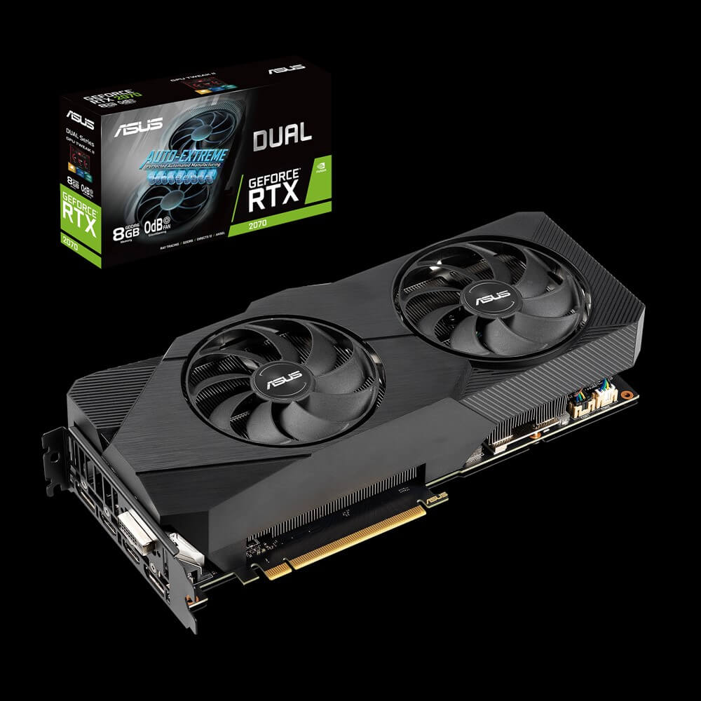 Card Màn Hình VGA ASUS GeForce RTX 2070 Super 8GB GDDR6 DUAL EVO