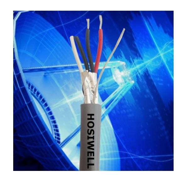 Cáp Tín Hiệu Hosiwell 9218-2P 2 Pair 18AWG – Vặn Xoắn Chống Nhiễu Cu/PE/OSCR/PVC