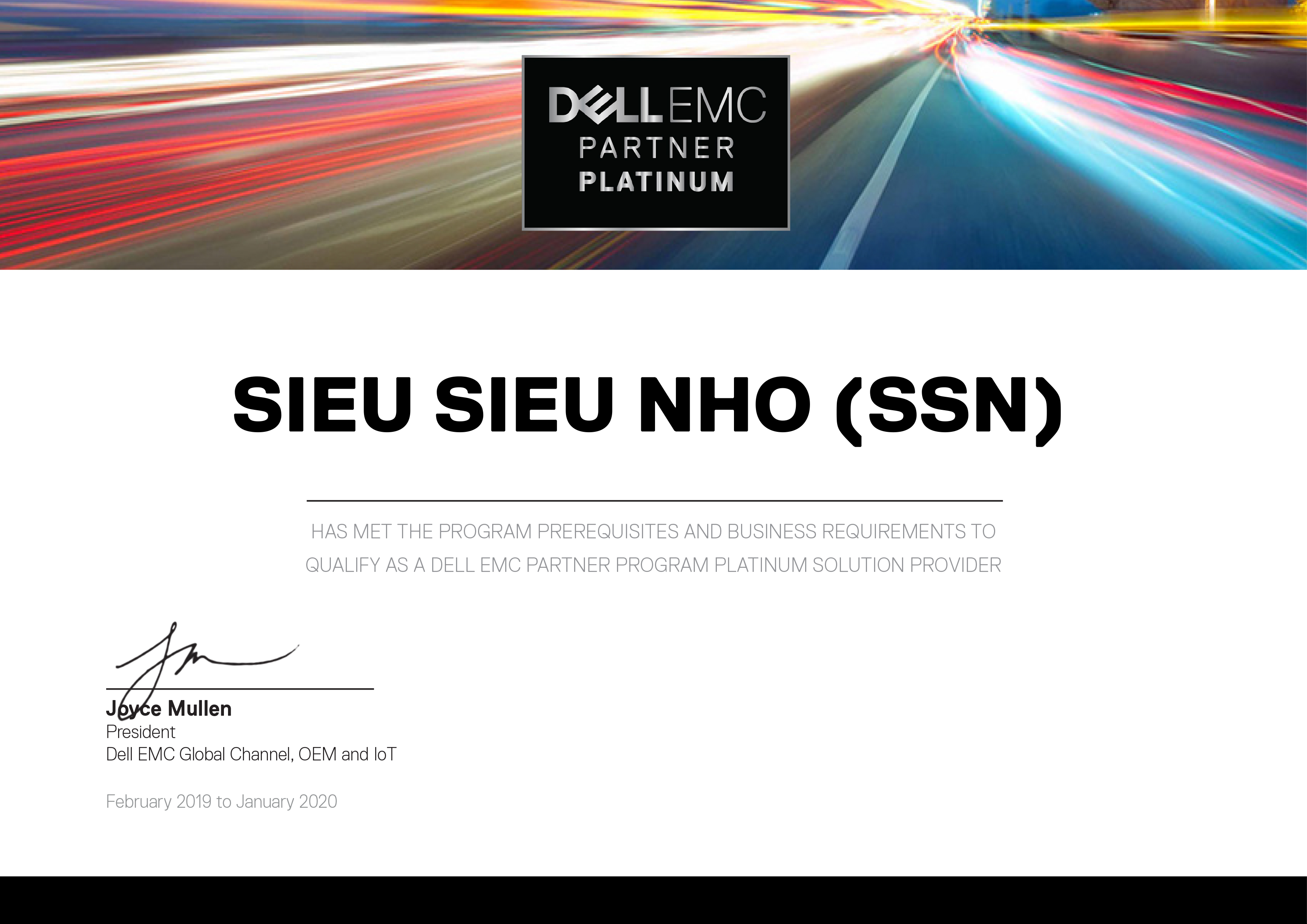 GCN DELL EMC PARTNER PLATINUM