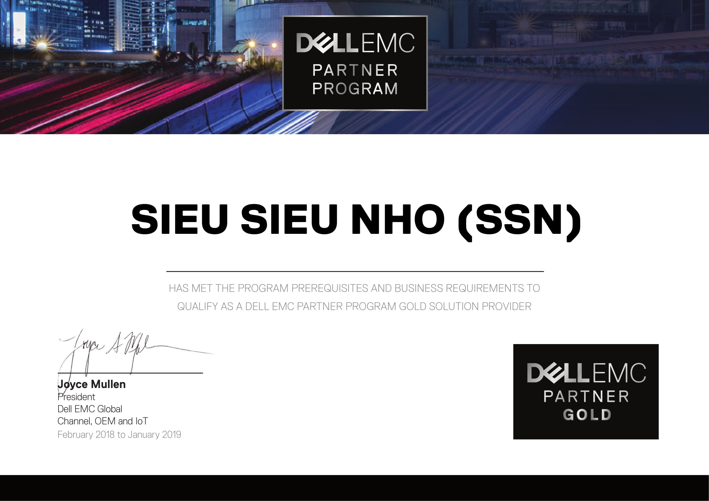 GCN Gold Partner - DELL EMC PARTNER PROGRAM