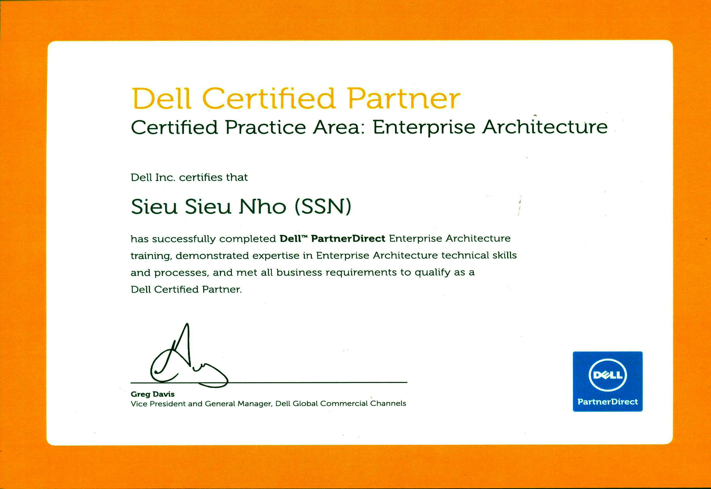 GCN certified Practice Area : Enterprise Architecture